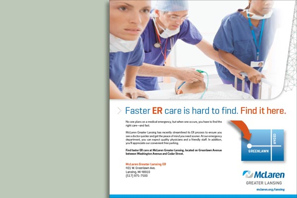 ER Find it here Print Ad